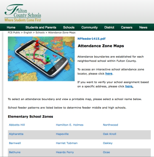 Click here to see the current Fulton County School System zoning.